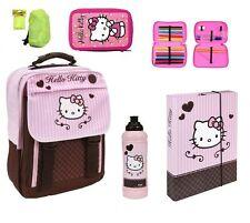 Hello Kitty Schulrucksack Set 5tlg. Federmappe gefüllt Schulranzen HK13830