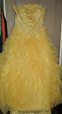 JJ'S HOUSE GOWN DRESS PARTY OR CUSTOME NIGHT YELLOW