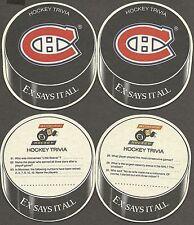 1996-97 Molson's Export Hockey Trivia Canadiens Coaster Variety Pair