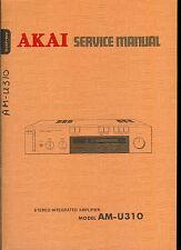 Rare Original Factory Akai AM U310 Stereo Amplier Amp Service Manual