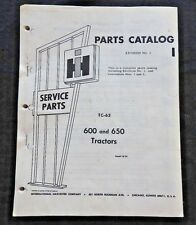 1957 FARMALL INTERNATIONAL HARVESTER 600 & 650 TRACTOR PARTS CATALOG MANUAL nice