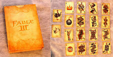 Playing Cards Fable III Limited Collector's Edition Set Poker Deck Unused