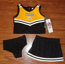 PITTSBURGH STEELERS CHEERLEADER  SET SIZE 4T 3 PIECE NEW FAST SHIP