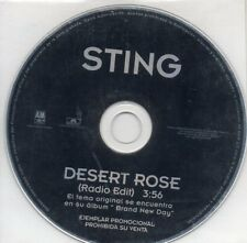 CD SINGLE  STING Desert Rose Promo SPAIN 1-TRACK CDSINGLE M-43515-99 1999 SPAIN