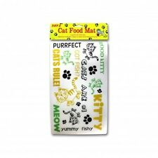 Cat Food Placemat Non-Slip Keeps your floors Clean Free Small Catnip Included