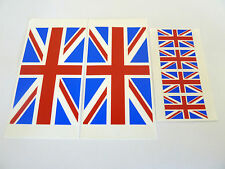 6 Union Jack Flag Window Stickers, Great Britain, 'Inside Fix Outside View'