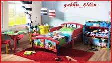 Children Bed Plastic Mickey Mouse Toddler Kids Room Furniture Red, Baby Bedroom