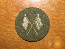 Canadian Army Trade Badge Trade Level 1 Signal Trades nice 1950's Green Flags