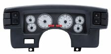 1990-93 Ford Mustang Dakota Digital Silver Alloy & Red VHX Analog Gauge Kit