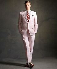 Brooks Brothers LIMITED EDITION Great Gatsby Pink Pinstriped Linen Suit Tuxedo