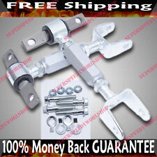 SILVER Front&Rear Adj Suspension Camber Kits for CIVIC 02-05 EP3 RSX 02-06 DC5