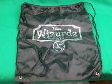 BIG DISNEY WIZARDS OF WAVERLY PLACE BLACK BAG SILVER LETTER BACKPACK PLUSH NYLON