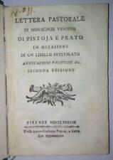 Settecentina Lettera pastorale di monsignor vescovo di Pistoia e Prato 1788