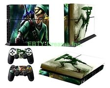 Zelda Link Triforce Video Game Skin Sticker Decal Protector for Playstation PS4