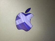 "Scotland / Scottish Flag Apple Logo Vinyl Decal Sticker for MacBook 13"" 15"""