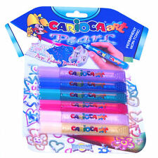 Carioca Pearl Permanent Fabric Marker Paint Pens 6 Pack
