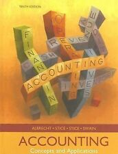 Accounting : Concepts and Applications by W. Steve Albrecht, Earl K. Stice,...