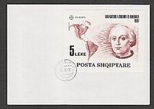 Albania 1992 Christopher Columbus Europa souvenir sheet EUROPA CEPT FDC
