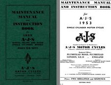 AJS Motor Cycles 1953 Spring & Rigid Frame - Maintenance Manual and Instruction