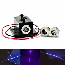 Dot/Line/Cross 405nm 20mW Violet/Blue Focusable Laser Diode Module w/ Heatsink
