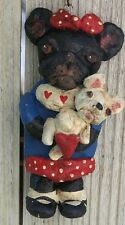 Folk Art French Bulldog Dog Doll Callie Cookie Ornament Doll Vintage Nostalgic