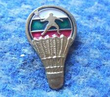 BULGARIA BADMINTON FEDERATION UNION ASSOCIATION 1970's PIN BADGE