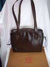 Loewe Madrid 1846, Made In Spain Brown Leather Shoulder Bag & Dust Bag. **NEW**