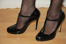 Original Buffalo Lack High Heels Pumps Stiletto Gr.40 Schuhe Absat.11,5 cm
