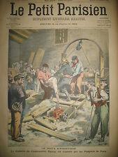 PUITS ANDEVILLE OISE POMPIER PARIS BRACONNAGE PANNEAUTEUR LE PETIT PARISIEN 1906