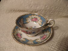 ROYAL GRAFTON FINE BONE CHINA CUP/SAUCER BLUE & HEAVY GOLD GREAT CHRISTMAS GIFT