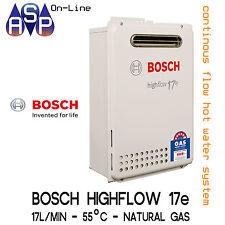 BOSCH HIGHFLOW 17e (17L/min) - CONTINUOUS FLOW HWS - 55°C - NATURAL GAS