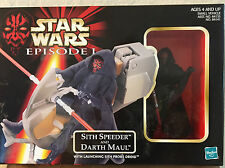 1998 Hasbro Star Wars Episode 1 Sith Speeder And Darth Maul New In Box
