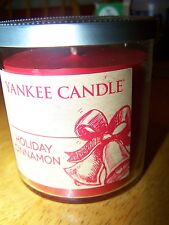 New Yankee Candle Holiday Cinnamon 7 oz red tumbler glass Christmas Limited Ed.