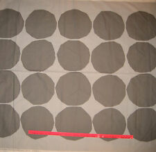 "Marimekko Kivet Pattern Fabric Polka Dot Dark Gray 2 yds  x 56""  FREE Ship"
