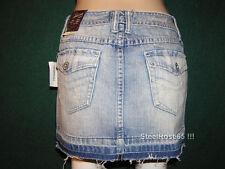 NEW Aeropostale Junior Girls Denim Blue Jean Cut-off Mini Skirt Size 00
