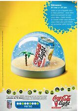 Publicité Advertising 2002 Coca Cola Light