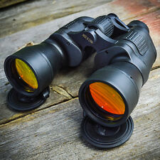 Day/Night 20x50 Outdoor Binoculars w/ Pouch Camping Hunting Army Perrini Ruby
