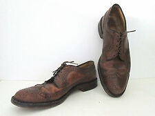 Vtg 50's brown spectator perf shoes ad agency executive Sz 13
