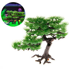 Aquarium Plants Plastic Pine Fish Tank Artificial Accessories Bonsai Decoration