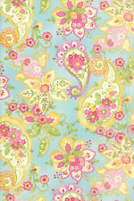 MODA Fabric ~ COLETTE ~ by Chez Moi (33050 12) Floral Paisley/Sky - by 1/2 yard