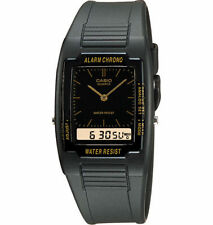 Casio Analog/Digital Combination Watch, Black Resin Strap, Alarm,  AQ47-1E