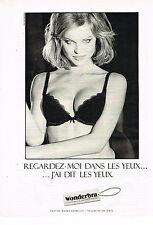 PUBLICITE ADVERTISING 025  1994  WONDERBRA  soutien gorge MILLA JOVOVITCH