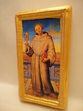 Saint James of The Marches Christian Roman Catholic Icon Gold Art on Pine Wood