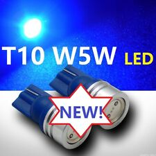 2 X PCS T10 W5W BLUE LED Bright 1 WATT