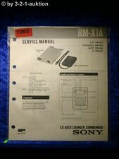 Sony Service Manual RM X1A CD Auto Charger Commander (#1093)