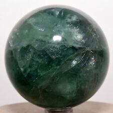 "2.3"" Rainbow Green Fluorite Sphere Natural Crystal Mineral Stone Ball - China"