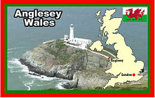 ANGLESEY, WALES - SOUVENIR NOVELTY FRIDGE MAGNET - NEW - GIFT