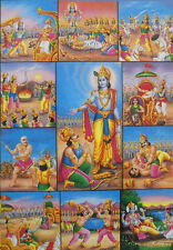 """Various events in Mahabharata War Hindu God Poster (Size 10""""x16"""" Inches:npd2193)"""
