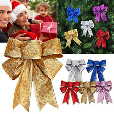 Red Bow Christmas Tree Party Gift Bowknot House Xmas Decoration New Year Hot