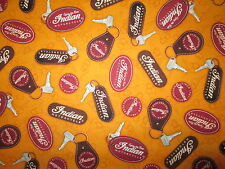 INDIAN MOTORCYCLES KEYS ORANGE KEY CHAIN MOTORCYCLE COTTON FABRIC FQ
